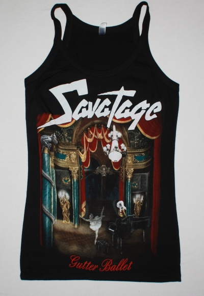SAVATAGE GUTTER BALLET BLACK WOMAN'S VEST TANK TOP