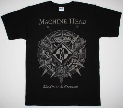 MACHINE HEAD BLOODSTONE & DIAMONDS 2014 NEW BLACK T-SHIRT