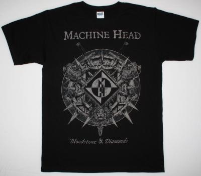 MACHINE HEAD BLOODSTONE & DIAMONDS 2014 NEW BLACK T-SHIRT