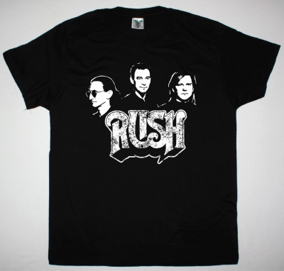 RUSH BAND NEW BLACK T SHIRT
