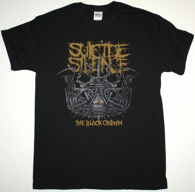 SUICIDE SILENCE THE BLACK CROWN NEW BLACK T-SHIRT
