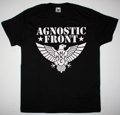 AGNOSTIC FRONT EAGLE NEW BLACK T SHIRT