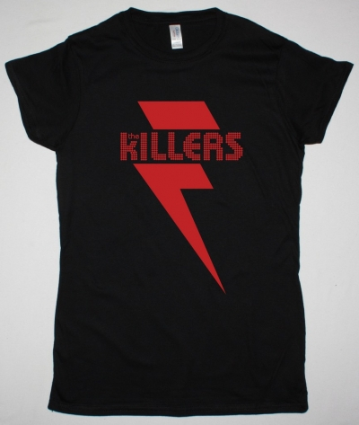 THE KILLERS RED BOLT BLACK LADY T SHIRT