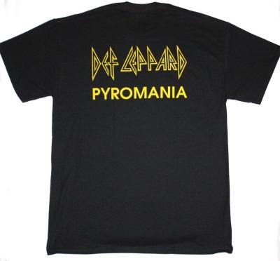 DEF LEPPARD PYROMANIA  NEW BLACK T-SHIRT