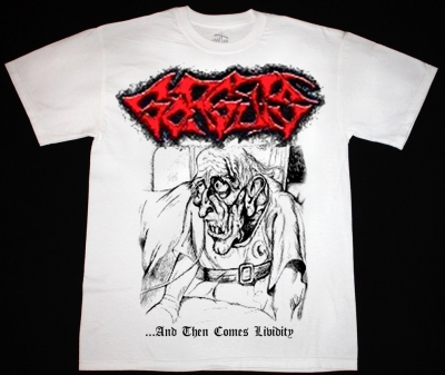 GORGUTS AND THEN COMES LIVIDITY'90  NEW WHITE T-SHIRT