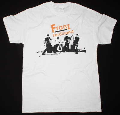 FRANZ FERDINAND BAND NEW WHITE T-SHIRT