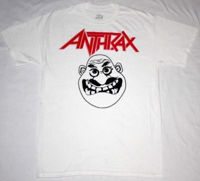 ANTHRAX NOT MAN WHITE NEW T-SHIRT