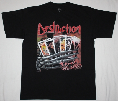DESTRUCTION  THRASH TILL DEATH NEW BLACK T-SHIRT