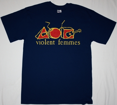 VIOLENT FEMMES HALLOWED GROUND NAVY BLUE T-SHIRT