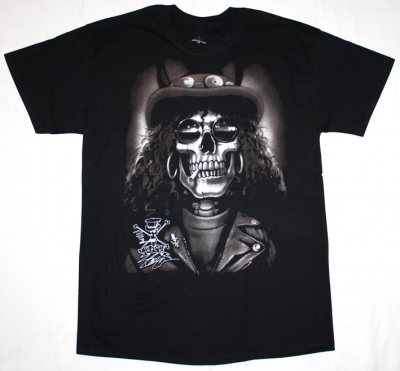 SLASH SKULL NEW BLACK T-SHIRT