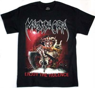 MASSACRA ENJOY THE VIOLENCE NEW BLACK T-SHIRT