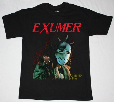 EXUMER POSSESSED BY FIRE'86 NEW BLACK T-SHIRT
