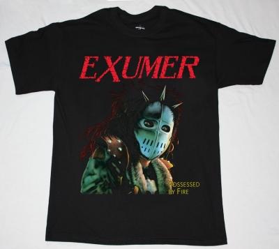 EXUMER POSSESSED BY FIRE'86 NEW BLACK T-SHIRT