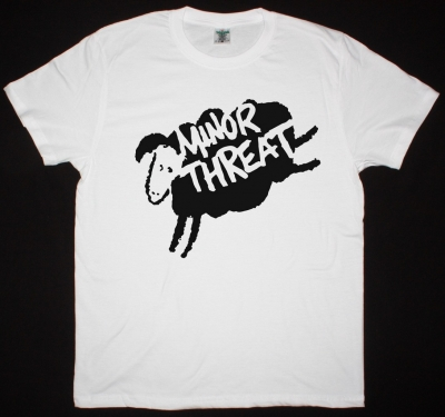 MINOR THREAT SHEEP NEW WHITE T SHIRT
