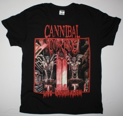 CANNIBAL CORPSE LIVE CANNIBALISM NEW BLACK T-SHIRT