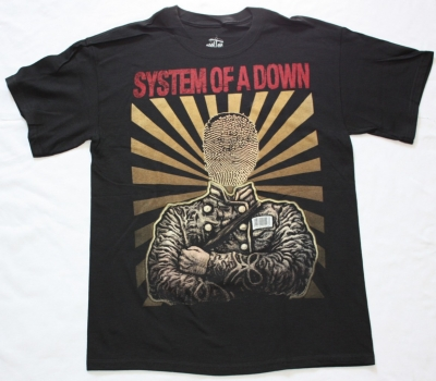 SYSTEM OF A DOWN FACELESS NEW BLACK T-SHIRT