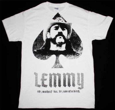 LEMMY MOTORHEAD JUMBO PRINT NEW WHITE T-SHIRT