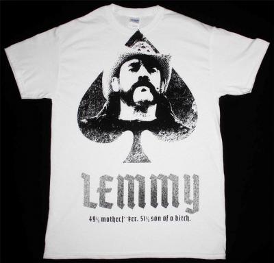 LEMMY MOTORHEAD JUMBO PRINT NEW WHITE T-SHIRT