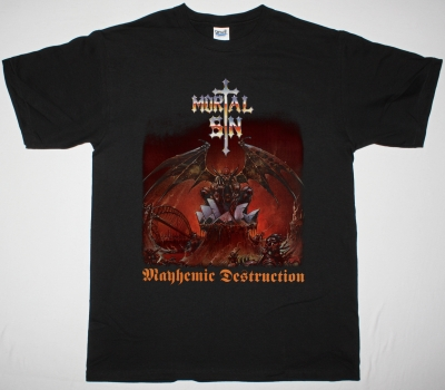 MORTAL SIN MAYHEMIC DESTRUCTION'86 NEW BLACK T-SHIRT