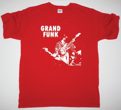 GRAND FUNK RAILROAD BAND NEW RED T-SHIRT