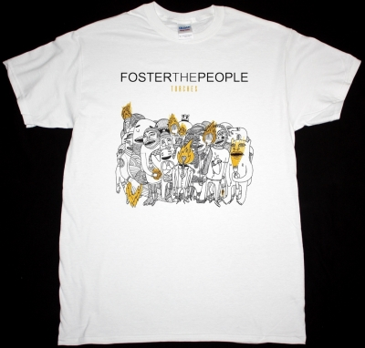 FOSTER THE PEOPLE TORCHES NEW WHITE T-SHIRT