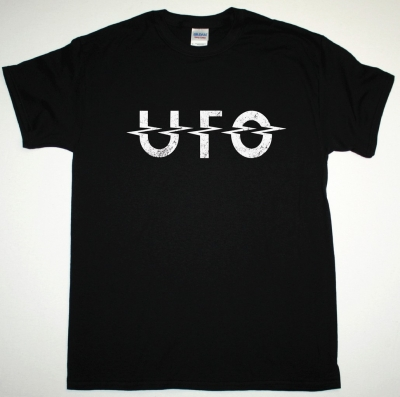 UFO LOGOSHIRT NEW BLACK T-SHIRT