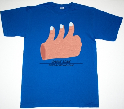 PETER BJORN AND JOHN GIMME SOME NEW BLUE T-SHIRT