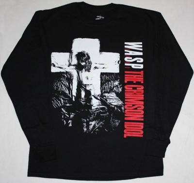 W.A.S.P. CRIMSON IDOL'92 NEW BLACK LONG SLEEVE T-SHIRT