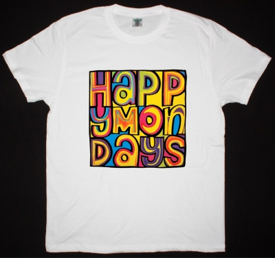 HAPPY MONDAYS LOGO WHITE T-SHIRT