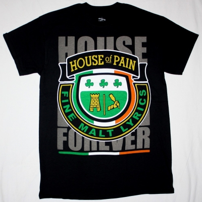 HOUSE OF PAIN FINE MALT LYRICS NEW BLACK T-SHIRT