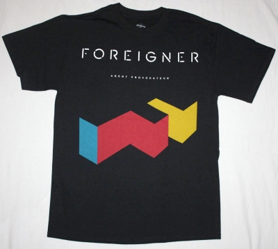 FOREIGNER AGENT PROVOCATEUR '84 NEW BLACK T-SHIRT
