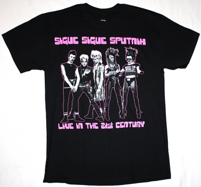 SIGUE SIGUE SPUTNIK 21ST CENTURY GENERATION X NEW BLACK T-SHIRT