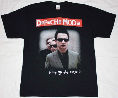DEPECHE MODE PLAYING THE ANGEL  NEW BLACK T-SHIRT