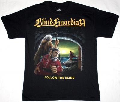 BLIND GUARDIAN FOLLOW THE BLIND '89 NEW BLACK T-SHIRT