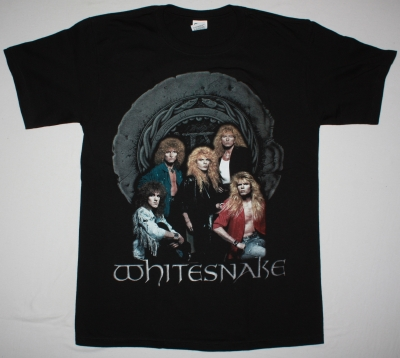 WHITESNAKE BAND NEW BLACK T-SHIRT