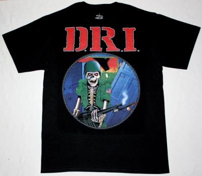 D.R.I. DIRTY ROTTEN'83 NEW BLACK T-SHIRT