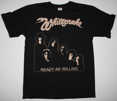 WHITESNAKE READY AN' WILLING 80 NEW BLACK T-SHIRT