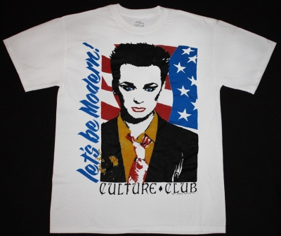 CULTURE CLUB LET'S BE MODERN  NEW WHITE T-SHIRT