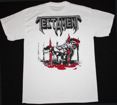 TESTAMENT  RETURN TO THE APOCALYPTIC CITY WHITE T-SHIRT