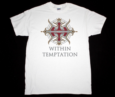 WITHIN TEMPTATION LOGO NEW WHITE T-SHIRT