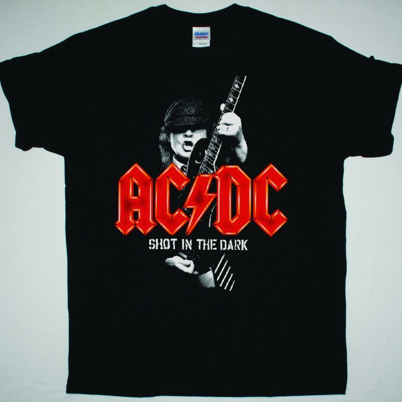 AC DC SHOT IN THE DARK AC/DC NEW BLACK T-SHIRT