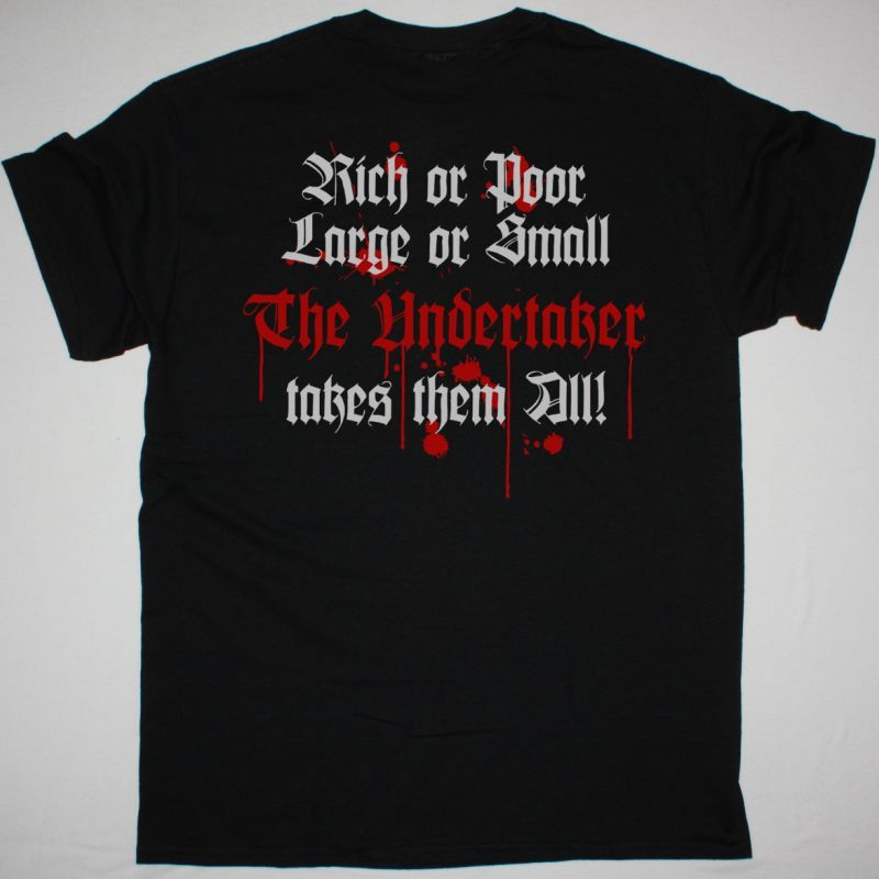 ACCEPT THE UNDERTAKER NEW BLACK T-SHIRT