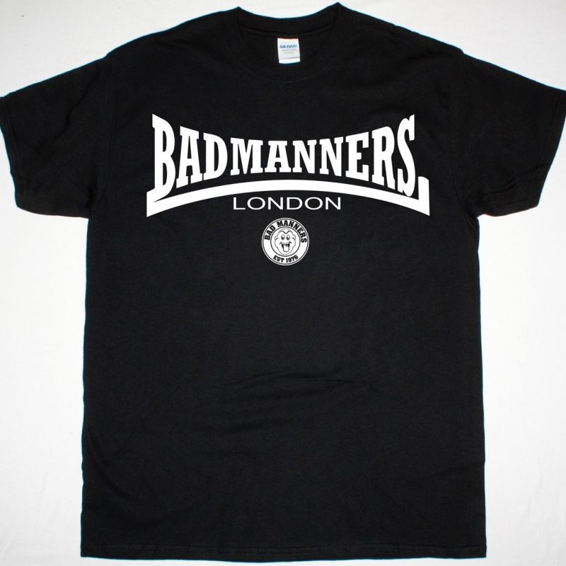 BAD MANNERS LONDON NEW BLACK T-SHIRT