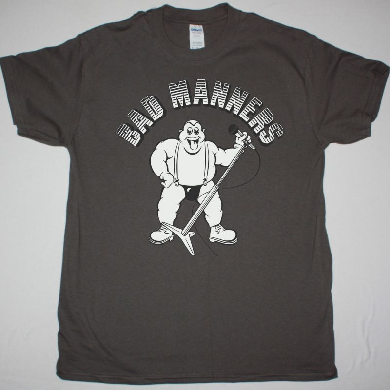 BAD MANNERS SKA 'N' B NEW GREY CHARCOAL T-SHIRT