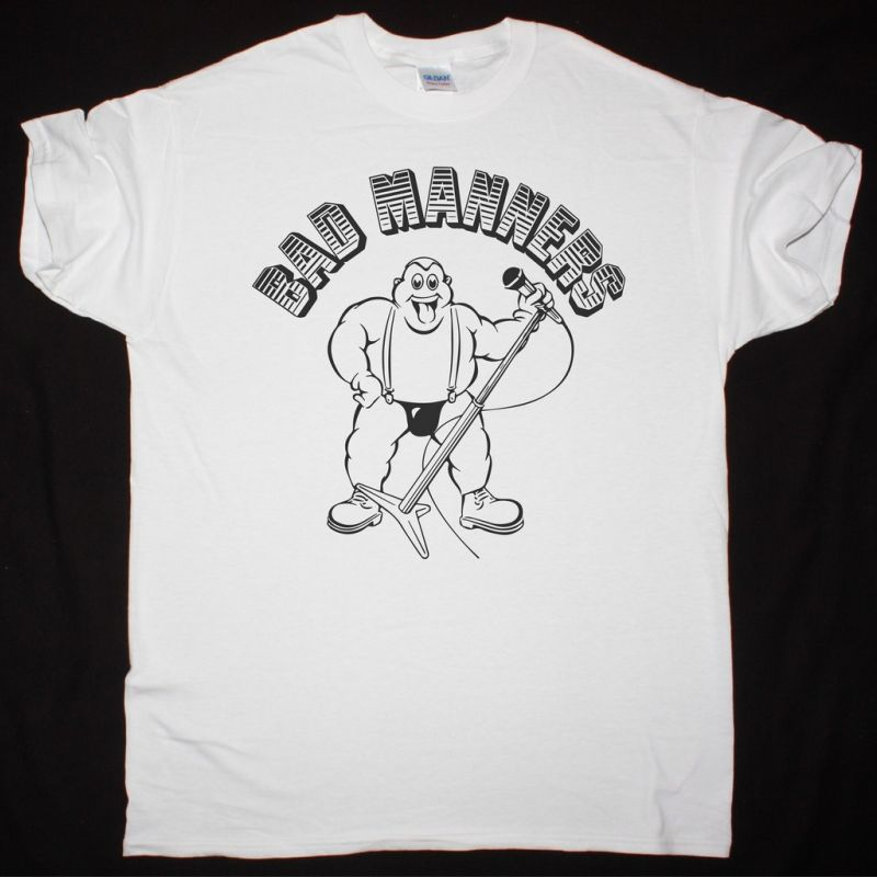 BAD MANNERS SKA'N'B WHITE NEW WHITE T-SHIRT