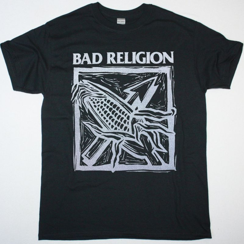 BAD RELIGION AGAINST THE GRAIN NEW BLACK T SHIRT
