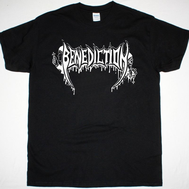 BENEDICTION LOGO NEW BLACK T-SHIRT