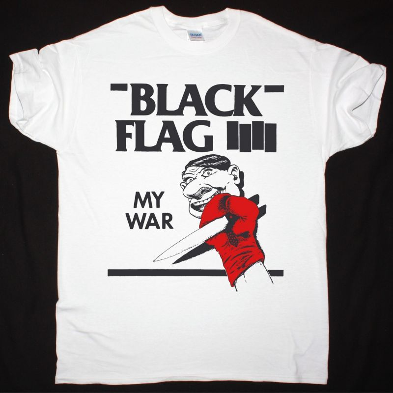 BLACK FLAG MY WAR NEW WHITE  T SHIRT