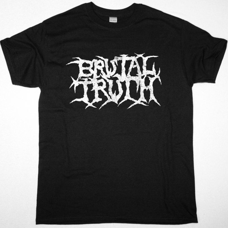 BRUTAL TRUTH LOGO NEW BLACK T-SHIRT