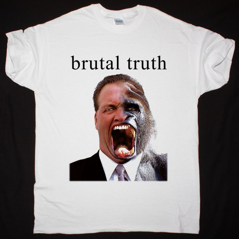 BRUTAL TRUTH SOUNDS OF THE ANIMAL KINGDOM NEW WHITE T-SHIRT